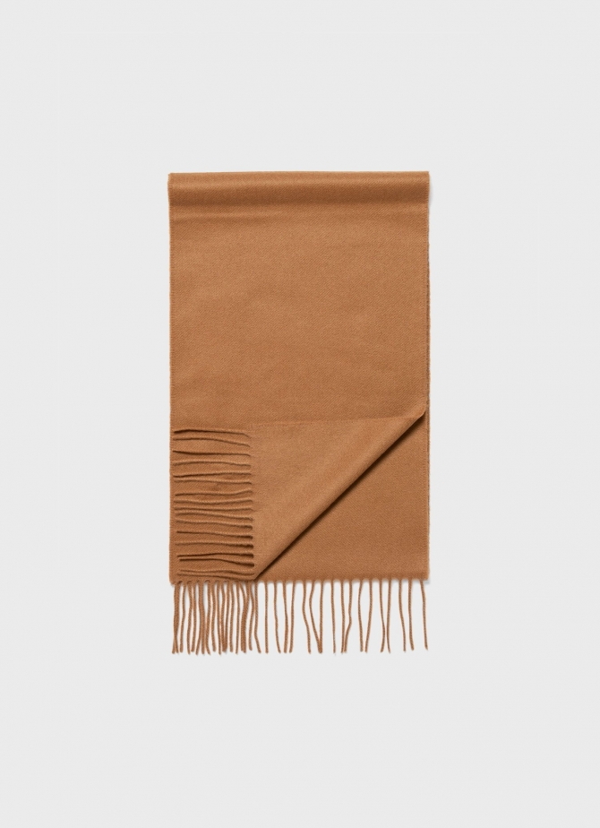 Cashmere Woven Scarf in Camel