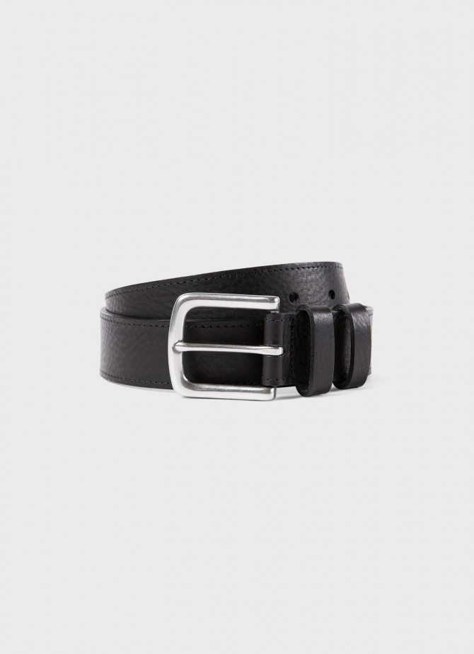 Grained Leather Belt