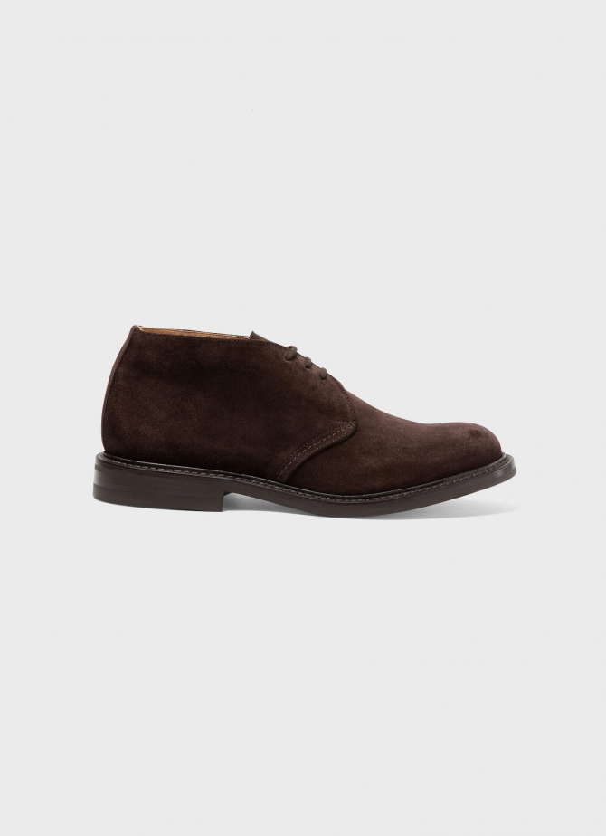Suede Ankle Boot in Brown