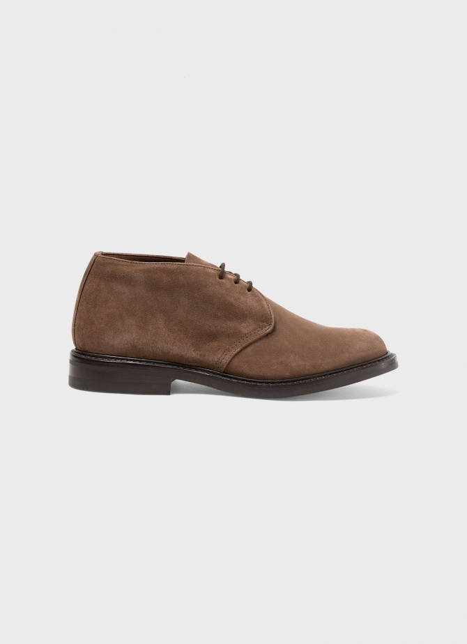 Suede Ankle Boot in Light Brown
