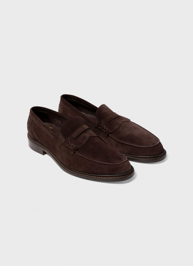 Sunspel and Trickers Suede Loafer