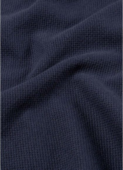 Men's Cotton Riviera Polo Shirt in Navy - fabric