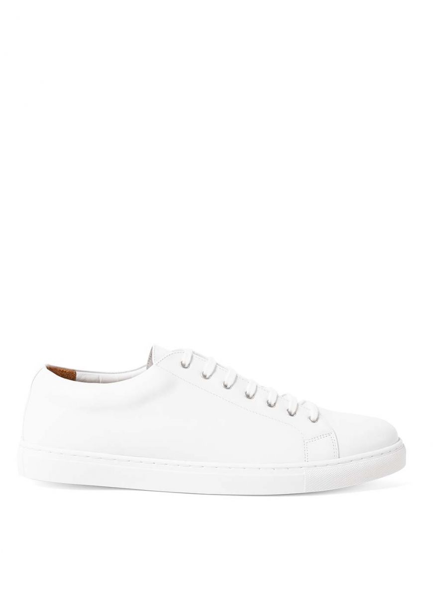 Men's Leather Tennis Shoes in White
